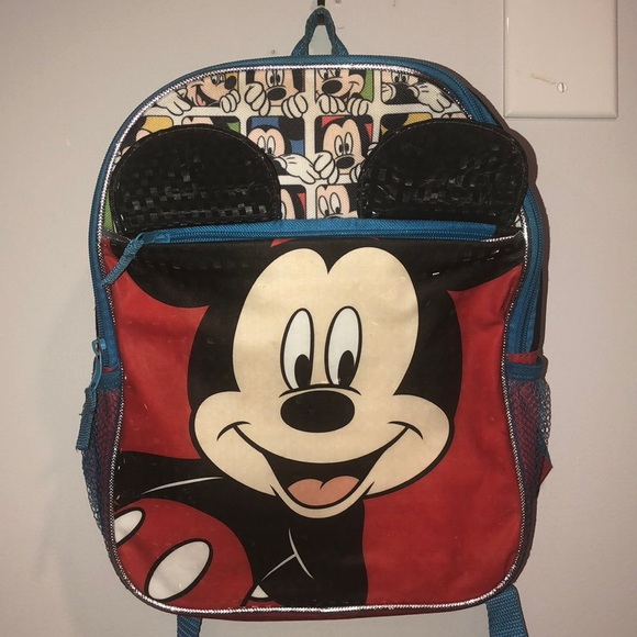 7692728bcbc Disney Other - Disney 3D Mickey Mouse Small Backpack